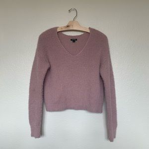 Target Wild Fable Blush Fuzzy Sweater (S)
